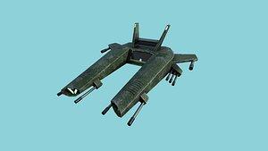 aircraft spaceship 03 - 3D