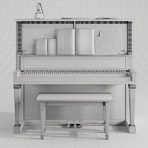 piano vintage set 3D model