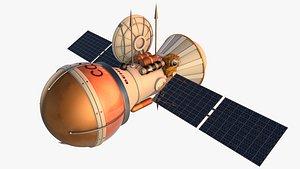 spacecraft venera 3D