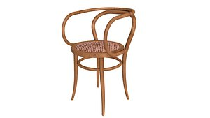 3D Old Thonet 209 Chair model