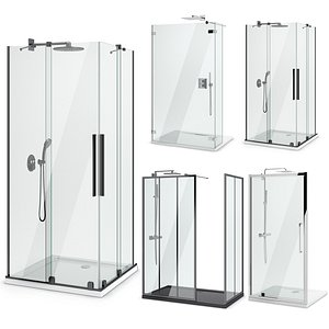 Showers Radaway, West One Bathrooms and Ideal set 124 3D model