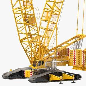 liebherr lr 1600-2 crawler crane 3D model