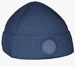 Blue Beanie 3D model