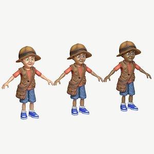 child boy exploring 3D