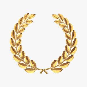 laurel wreath gold model