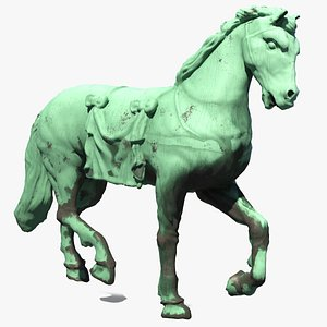 horse statue sculpture model
