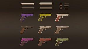 3D weapon muffler bullets model