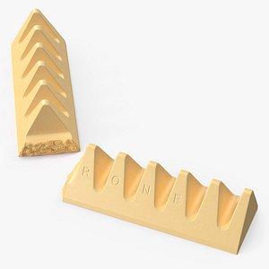 Toblerone White Chocolate Split Bar 3D model