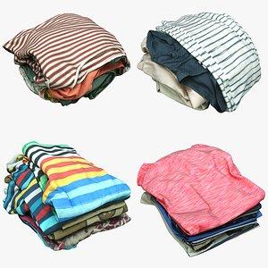 3D piles clothes