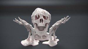 skull print model