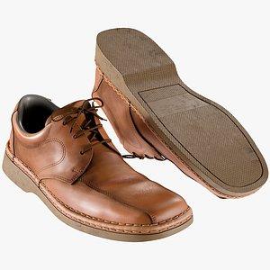 realistic men s shoes 3D model