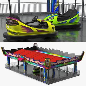 Bumper Cars Pavilion 3D model