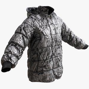 winter jacket snowboarding model