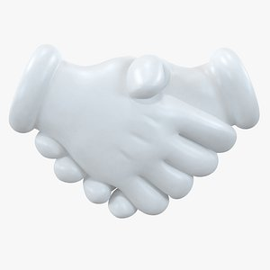 3D model handshake cartoon hand