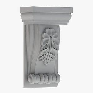 3D Scroll Corbel 12