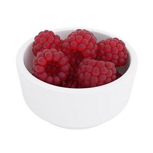 Raspberry bowl model