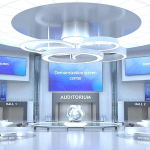 3D Sci-FI Futuristic Virtual Lobby