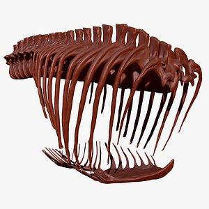 3D giganotosaurus rib set skeletons model