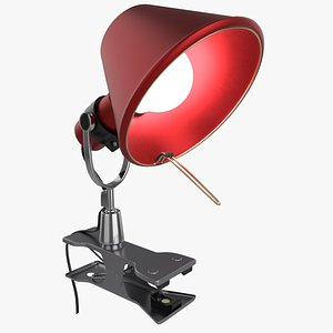 Modern Portable Clamp Lamp 3D