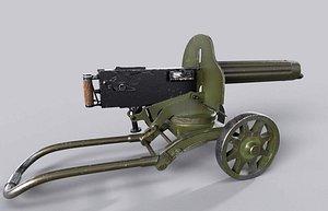 maxim machine gun 3D