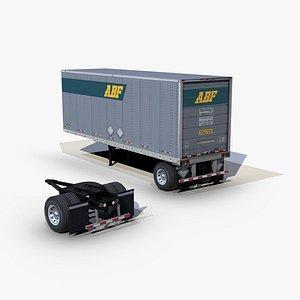 3D dry van trailer 28ft
