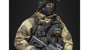 3D War Soldier 2.0 model