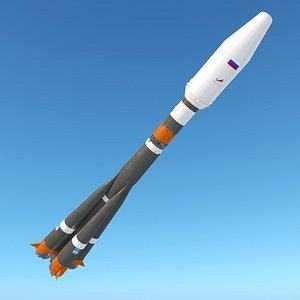3D Soyuz 2 Rocket