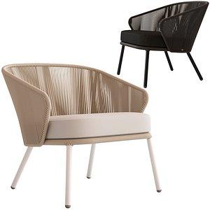 Coco Republic Paros Outdoor Lounge Chair 3D model