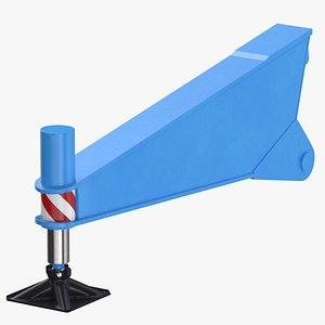 3D crane outrigger 04 blue model