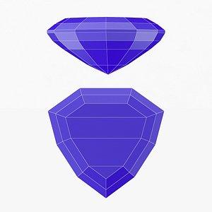 Shield Gemstone - 3D Printable 3D model