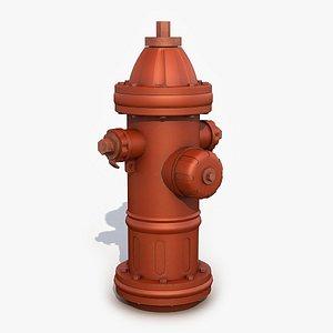 3D Fire Hydrant 2 3D Model model