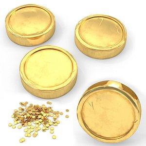 3D generic gold coins model