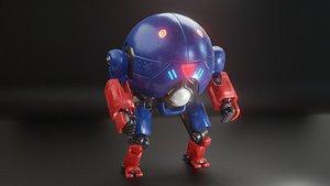 Sci Fi Mecha Robot 3D model