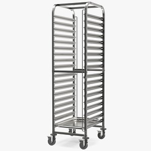 3D shelved trolley liam