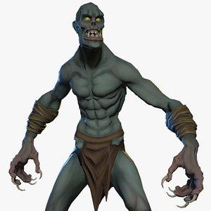 3D Ghoul Anim Rig