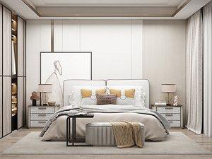 Modern Style Bedroom - 514 3D model