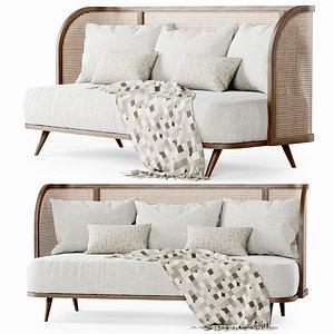 three-seater garden sofa 3D