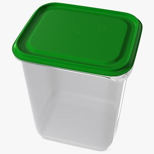Large Plastic Food Container with Lid 3D model