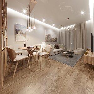 apartment room bedroom model