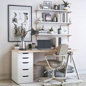 IKEA office workplace 67 3D model