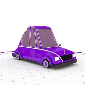 3D Low poly car