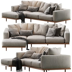 newport 2-piece chaise sectional model