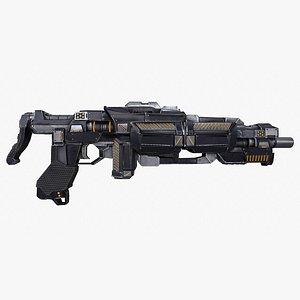 rifle submachine gun assault 3D model