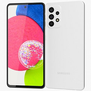 Samsung Galaxy A52s White 3D model
