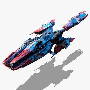 3D spaceship starship spacecraft model