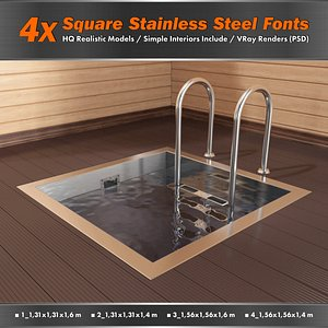 square stainless steel 3D