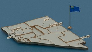 3D model nevada flag