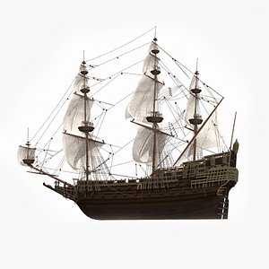 Large seagoing vessel 3D