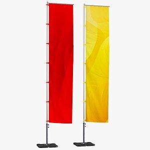 flag banner 3D