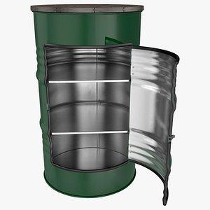 3D Steel Drum Locker
